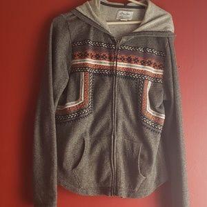 Zip up light sweater jacket